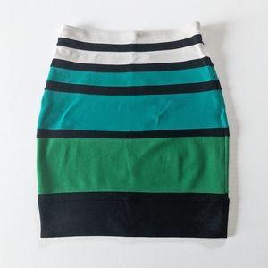 Express Colorblock Pencil Skirt, Size 2